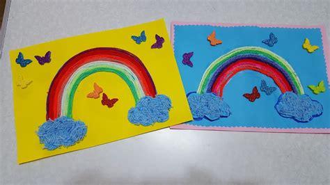Basteln Mit Buntpapier by Die Regenbogen Basteln Mit Buntpapier Und Wolle
