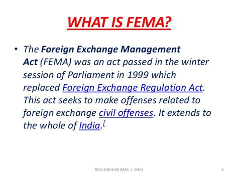 Export Management Notes For Mba by Foreign Exchange Management Act