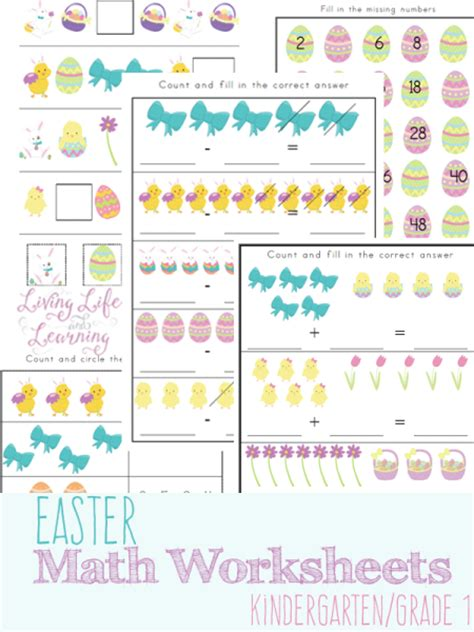free printable easter themed math worksheets faithful