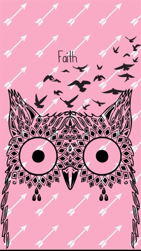 wallpaper pink owl 17 best images about owl wallpaper on pinterest iphone
