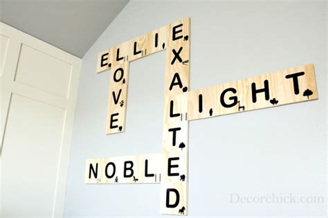 scrabble depot diy scrabble tile wall decorchick
