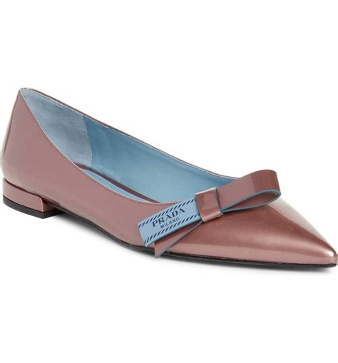 Pointy Bow Flats prada logo bow pointy toe flats best fancy flats