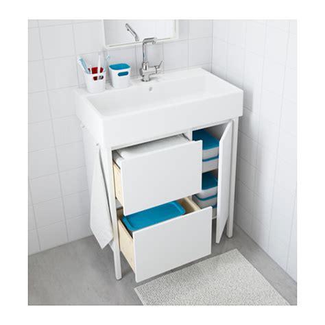 bathroom cabinets floor standing ikea yddingen wash stand with 2 drawers 1 door white 74x90 cm