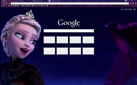 themes google chrome frozen the cold never bothered me anyway chrome theme by
