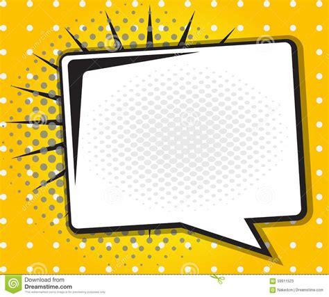 Comic Book Speech Bubble Pop Art Cartoon Stock Vector Pop Powerpoint