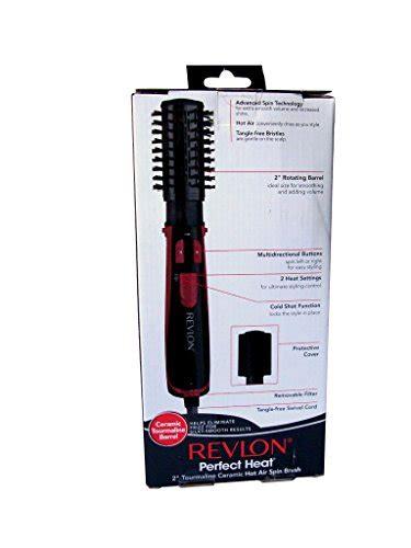revlon perfect heat hot air styler and dryer brush with revlon perfect heat 2 quot tourmaline ceramic rotating hot air