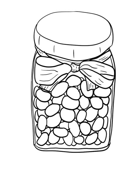 jelly bean coloring page az coloring pages
