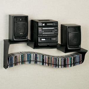 Wall Mount Stereo Shelf by Wave Cd Holder With Stereo Shelf Furniture