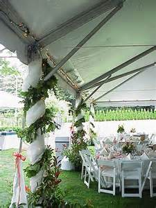 Camping Tent Decorations Outdoor Wedding Tent Pole Decorations Wedding Ideas