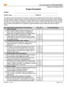 best photos of project evaluation sheet template project