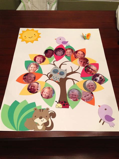 family craft projects family tree project family tree