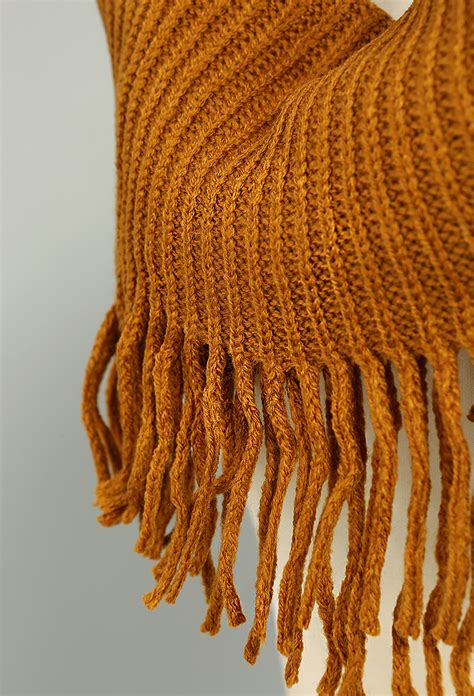 fringe knit infinity scarf shop scarves at papaya clothing