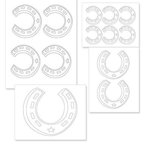 printable horseshoe template from printabletreats com