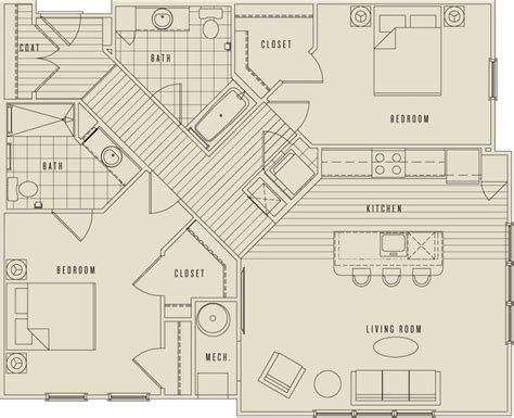 luxury apartment floor plans 3 bedroom 17 best images about new village at patchogue on pinterest