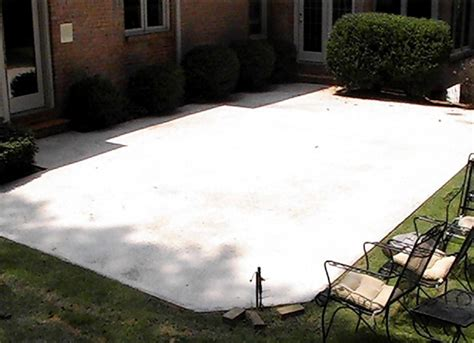 triyae backyard cement patio ideas various design