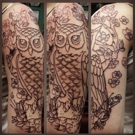 quarter sleeve owl tattoo 12 best tattoo inspiration images on pinterest owl