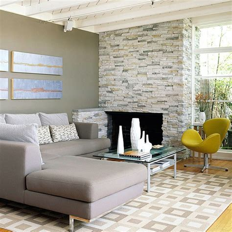 faux stacked limestone fireplace things for the home