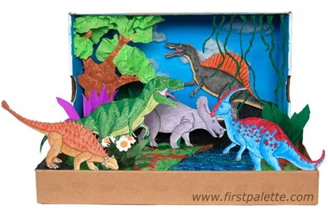 free printable dinosaur diorama backgrounds dinosaurs diorama background step 12 dinosaur diorama craft