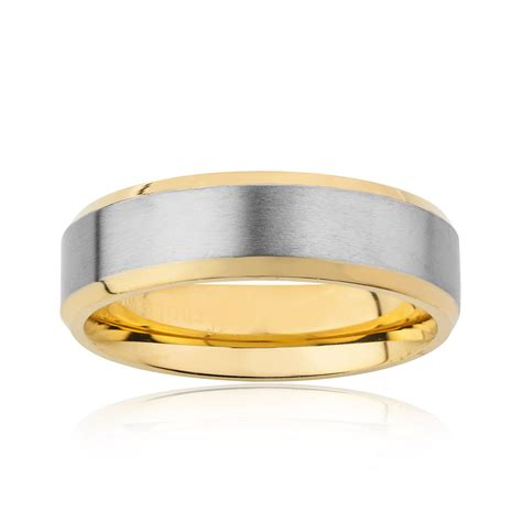 Anting Ring Titanium Gold 3 gold plated titanium ring 6 5mm size 7 west coast jewelry touch of modern