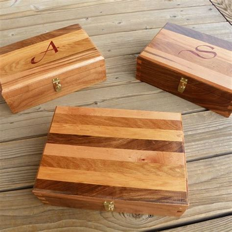 Handmade Dovetail Joints - handmade dovetailed box using four wood types by