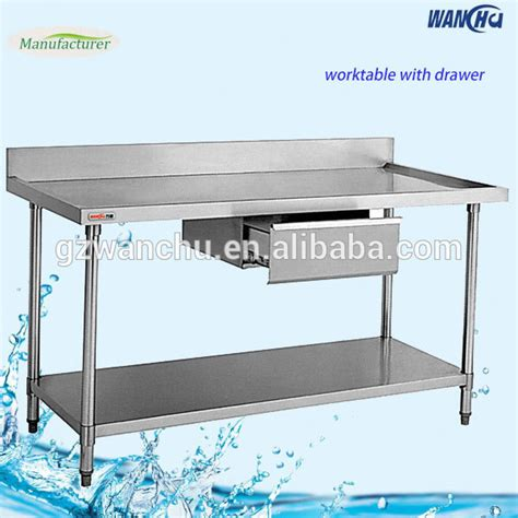 stainless steel kitchen work table drawers work table with