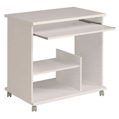 White Compact Computer Desk Buy Parisot Compact Computer Desk White From Our Office Desks Tables Range Tesco
