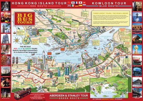 tour map hong kong big tour hong kong open top tour