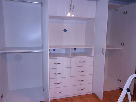 wardrobe entertainment center combo white gloss
