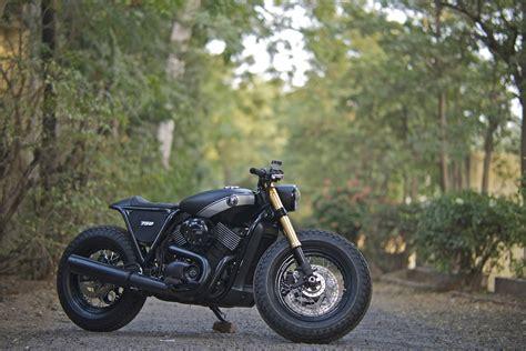 St Harley rcm street 750 caf 233 racer at india bike week 2015 shifting gears