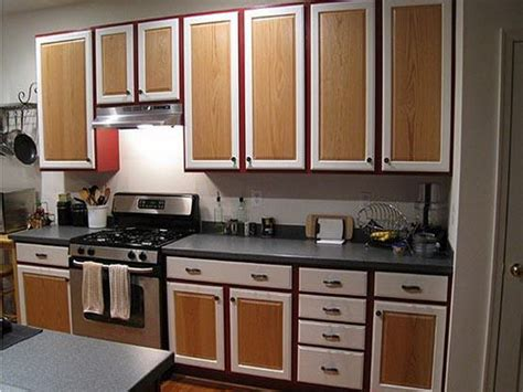 Formica Kitchen Cabinets by Miscellaneous Two Tone Kitchen Cabinets Interior