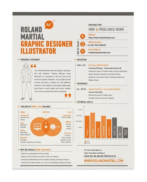25 exles of creative graphic design resumes inspirationfeed part 2
