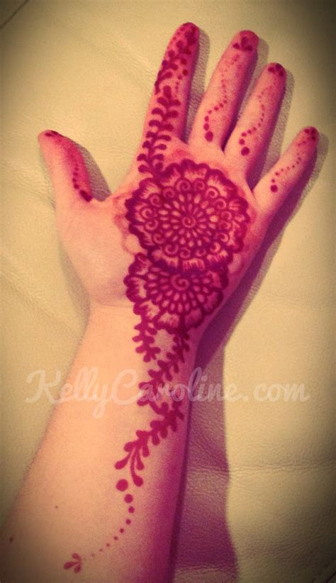 simple henna design kelly caroline