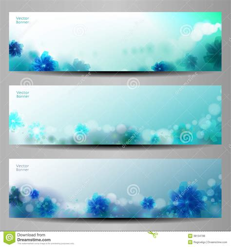 Abstract Flower Vector Background Brochure Template Banner Royalty Free Stock Photos Backdrop Banner Template