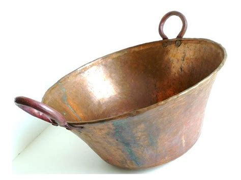 Handmade Copper Pots - hammered copper pot vintage handmade