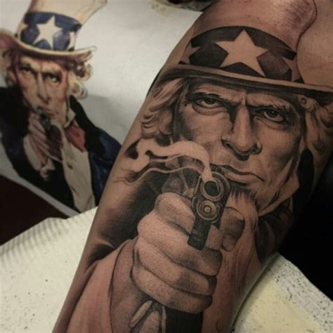 uncle sam tattoo sam sleeve venice designs