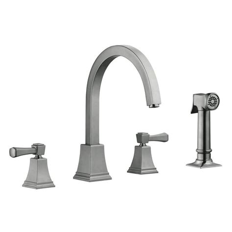 design house faucets design house torino 2 handle standard kitchen faucet with side sprayer in satin nickel