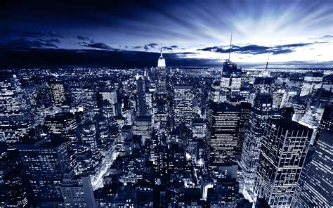 blue nyc new york in blue wallpapers hd wallpapers id 10403