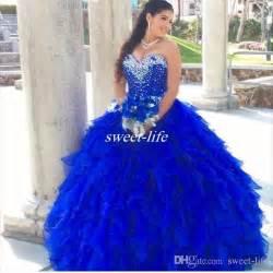 royal blue 2016 quinceanera dresses cascading ruffles ball