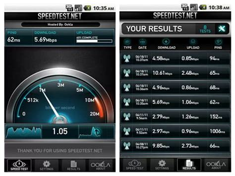 speed test android speedtest net speed test android v1 7 4
