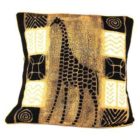 design batik cover handmade giraffe design batik cushion cover zimbabwe
