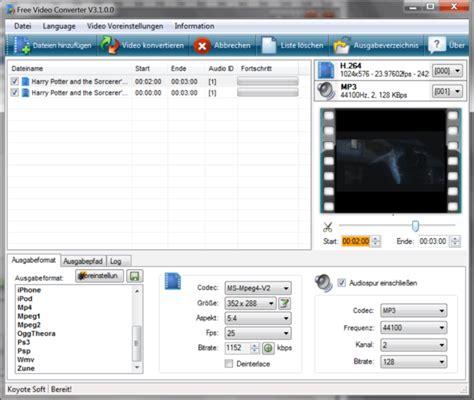 converter free download koyote freevideoconverter download freeware de