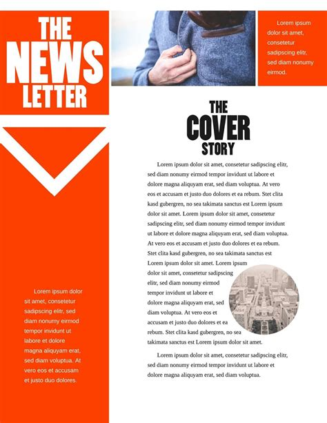 newsletter templates free template design