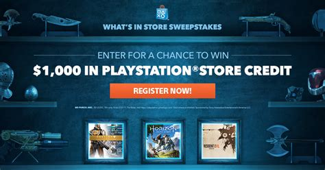 Auto Sweepstakes 2017 - playstation what s in store sweepstakes 2017 winzily