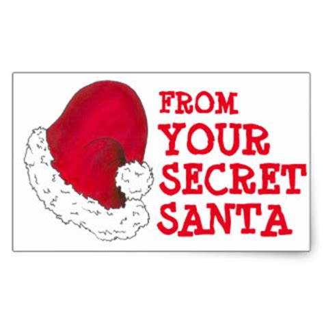 your secret secret santa stickers zazzle