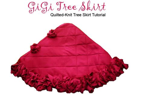 Quilted Tree Skirt Tutorial by Quilted Knit Tree Skirt Tutorial Peck