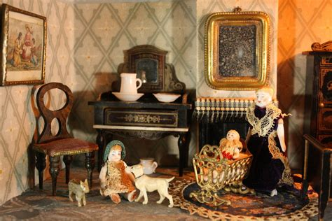 Miniature Dollhouse Kitchen Furniture Antique Dolls Houses Amp Rooms Antique Silber Amp Fleming