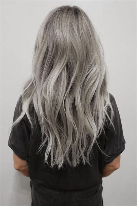 hairstyles for long hair dyed 15 inspirations of long hairstyles for gray hair