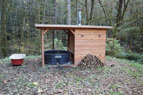 Diy Backyard Sauna by T I N Y G O G O Doug And Erin S Wood Fired Tub
