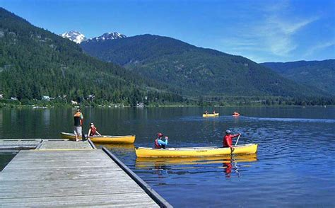 pedal boat whistler backroads whistler canoes single and double kayaks