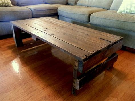 Shipping Pallet Coffee Table Upcycled Shipping Pallet Coffee Table Shipping Pallets Furniture And Diy And Crafts